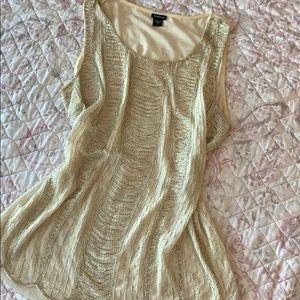 Torrid beaded sleeveless blouse